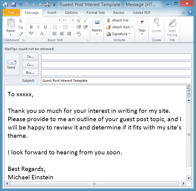Save time with an outlook email template email overload for How to open an outlook template