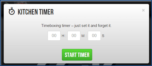 Marinara Timer - Kitchen Timer Option