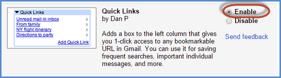 Gmail Quick Links Screenshot2