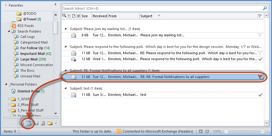 Outlook Email Appointment Screenshot1