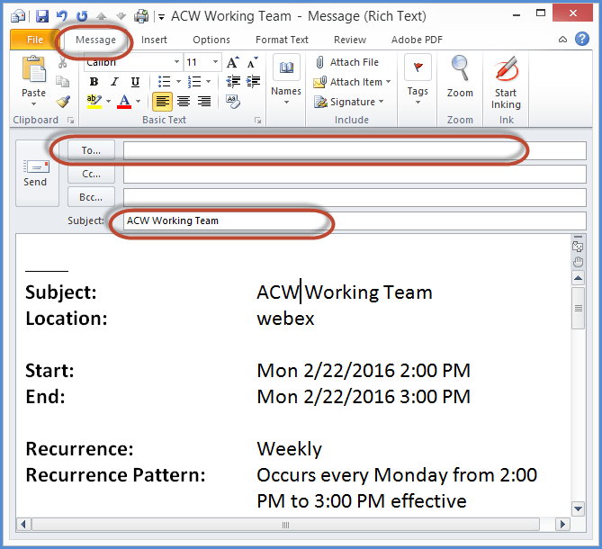 Turning Emails Into Appointments In Outlook