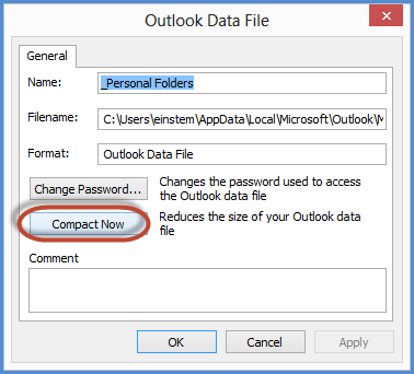 Compact Microsoft Outlook PST Data Files Screenshot4