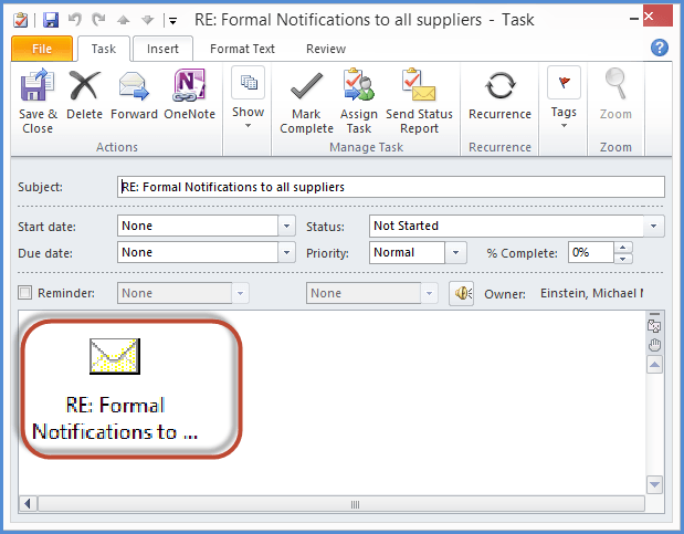 Outlook Email Convert Tasks Screenshot4