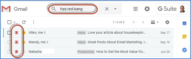 Gmail Stars Feature Screenshot20