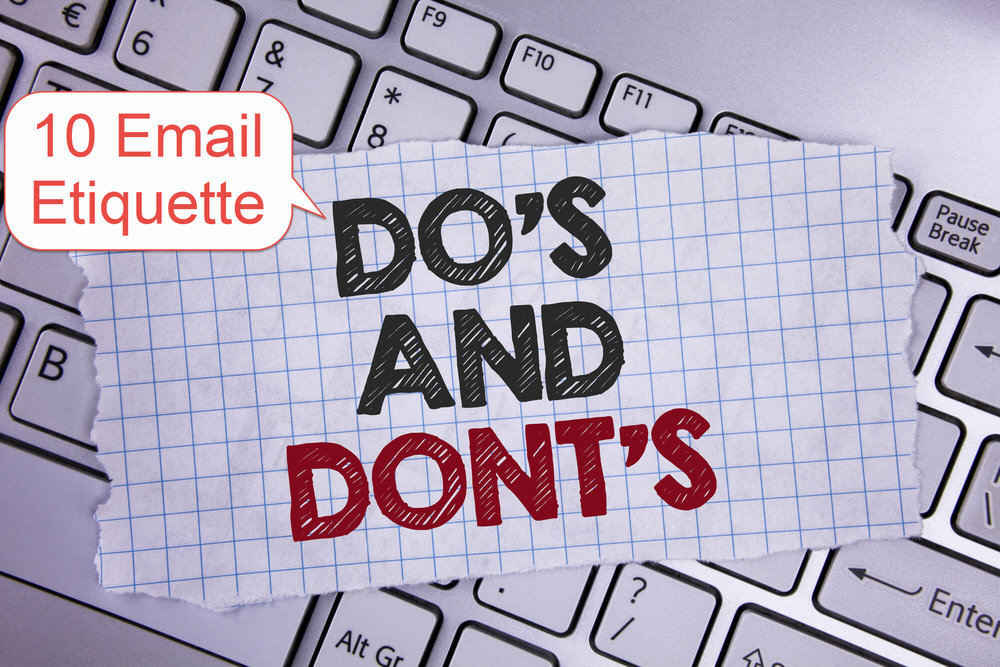Ten Email Etiquette Dos Donts