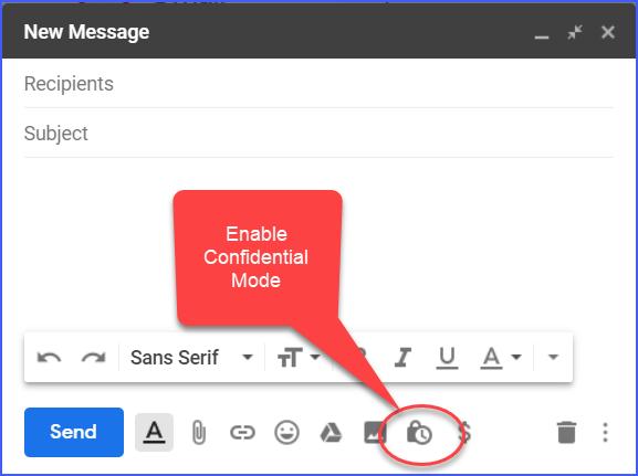 Gmail Confidential Mode Screenshot 1