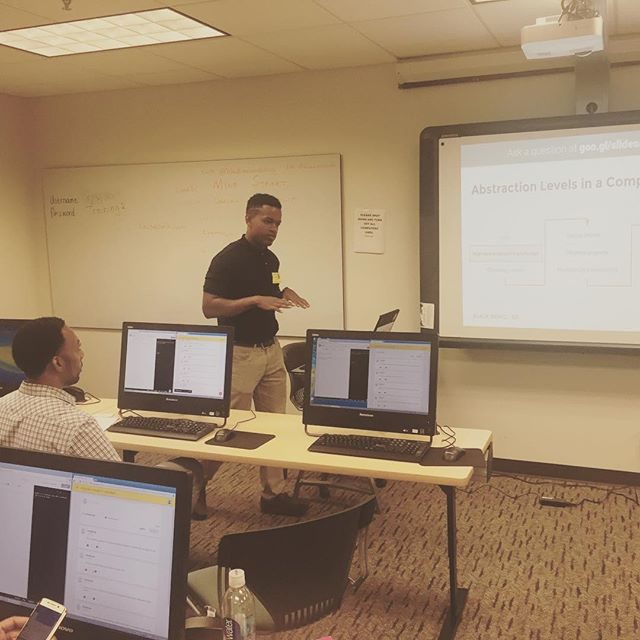 Proud to provide professional development to #APS Educational Technology Specialists. Teach the teachers! #BlackMenCode #techkids #coding #teaching #startup #tech #k12 #python #scratch #java #entrepreneurship #javascript #professionaldevelopment