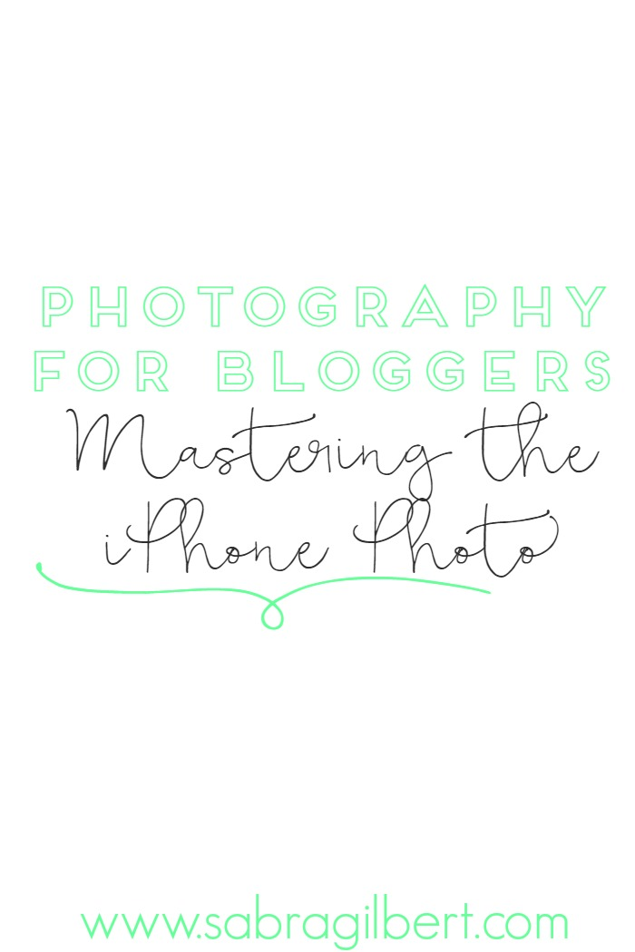 Photography for Bloggers: Mastering the iPhone Photo  Don't have a DSLR to take your blog photos? Don't worry! Your iPhone will work just fine!