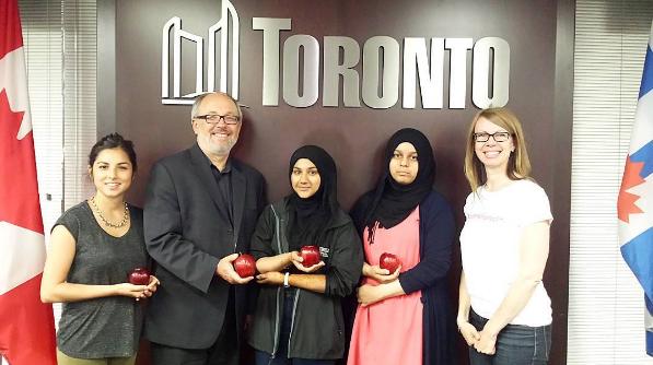 Olivia, Fajr, Khadija &Susan meet Councillor Joe Mihevc