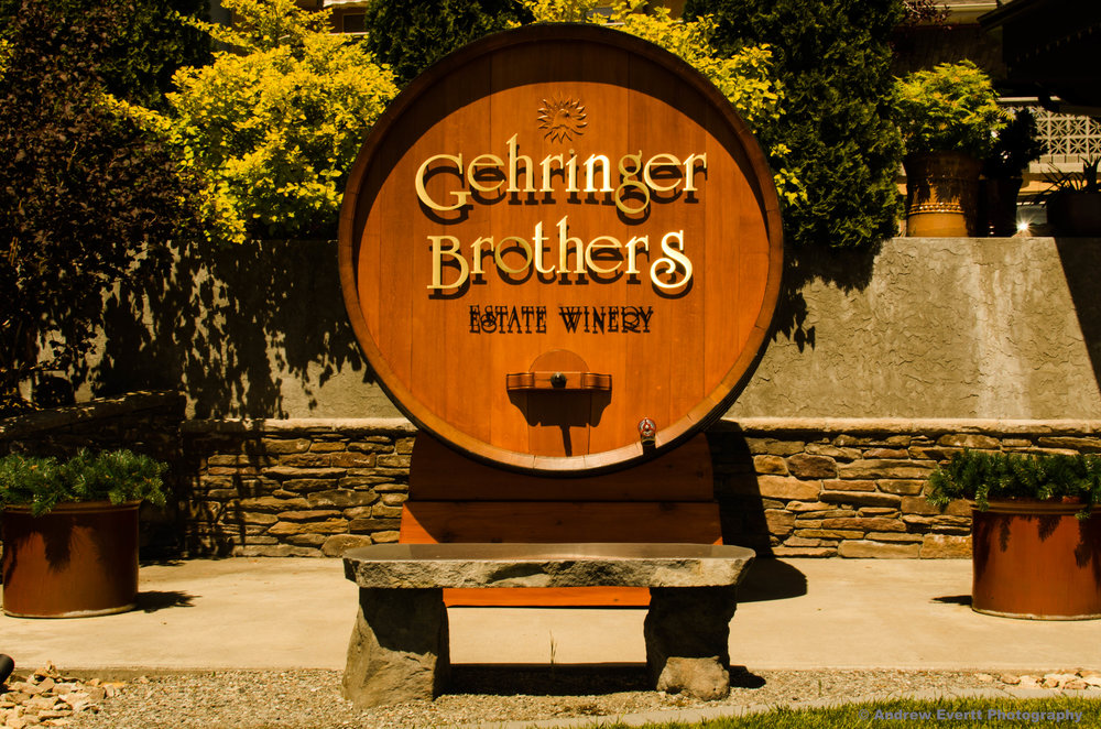 The Gehringer Brothers Barrel outside their tasting room