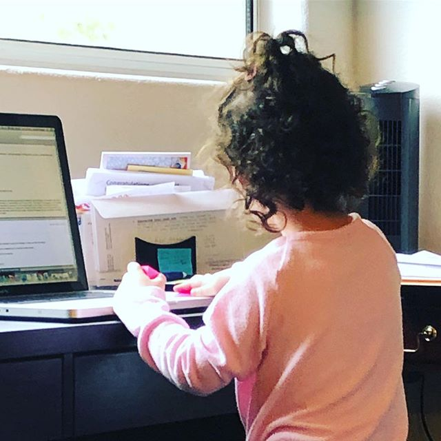 "I used to be sad when my daughter would play that she was ""working."" I was afraid she was seeing me working too much or that it meant that I wasn't spending enough time with her. ⠀⠀⠀⠀⠀⠀⠀⠀⠀ But now I recognize how amazing it is that she wants to be just like mommy. And that includes being a fierce, committed and hard working woman! ⠀⠀⠀⠀⠀⠀⠀⠀⠀ 📷 Nana! (@lsferrante ) ⠀⠀⠀⠀⠀⠀⠀⠀⠀ #justlikemommy #balanceiseverything #werkingmama #werkwerkwerk #momswhowork #maternityleaveover #maternityleaveistooshort #maternityleaveisover #workingmomlife #workingmamalife #hardworkingmom #balanceisbullshit #findyourbalance #nevernotamom #makeworkworkforyou #liveworklead"