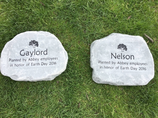 Commemorative stones laid on Earth Day 2017.