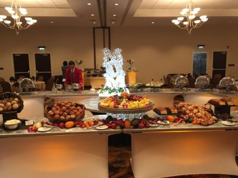 Fruit and pastry display