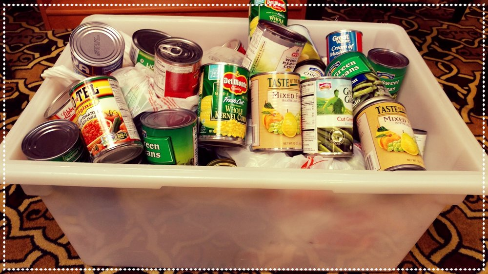 Donations - Canned Goods were collected for an extra raffle ticket.  Donations were given to our local food bank!
