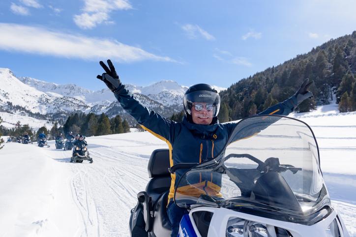 Snowmobiling tour