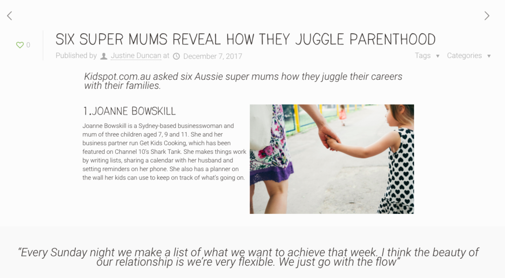 Jugglestreet - Kidspot.com.au asked six Aussie super mums how they juggle their careers with their families.