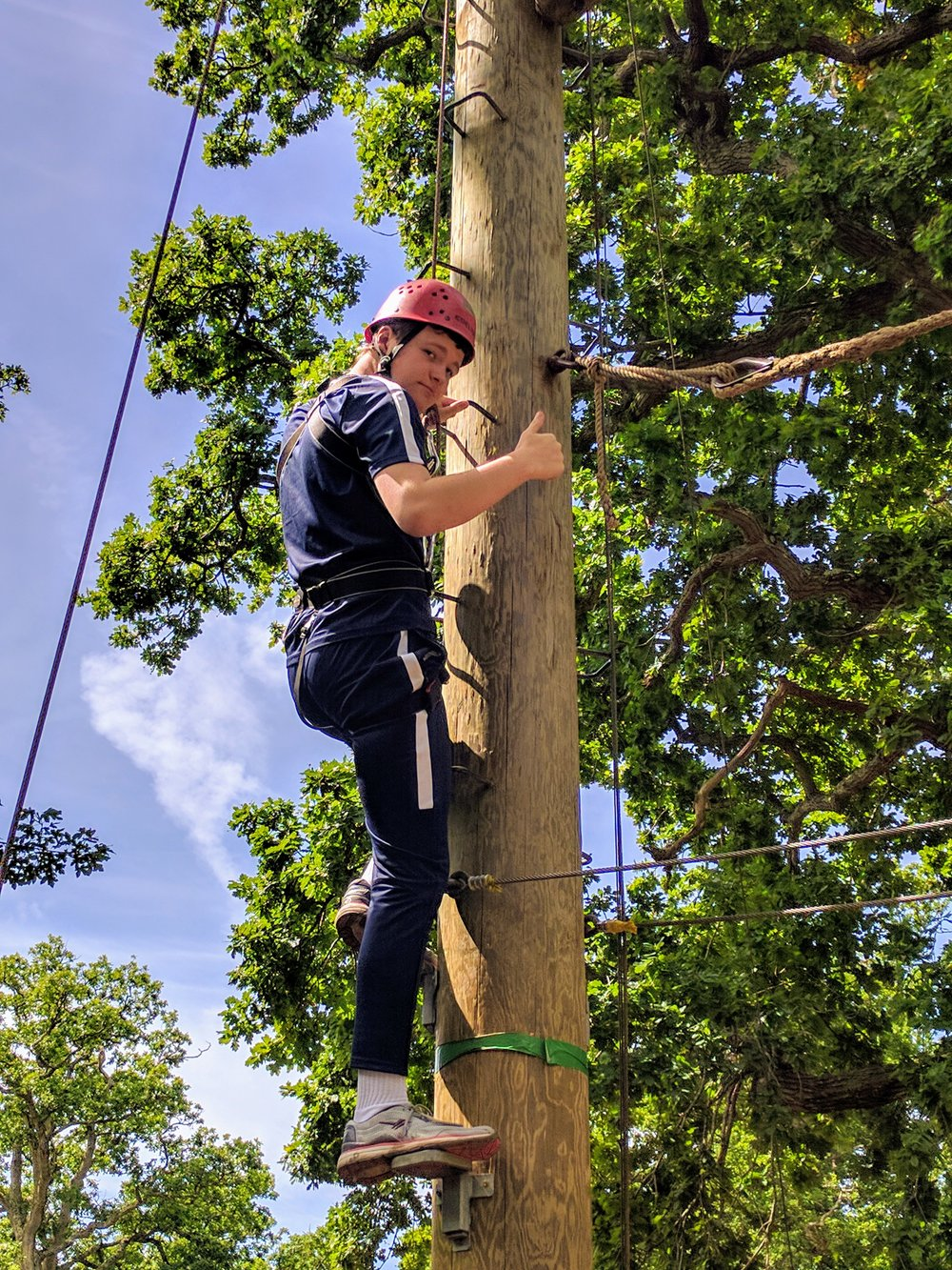 The future could hold a career as BT Openreach engineer. Well done!