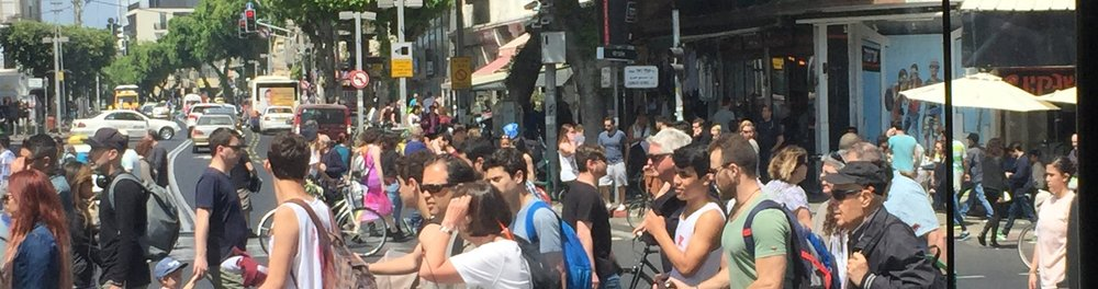 Shops close early on Friday and Tel Aviv is in chaos - everyone trying to run all their errands before the shops close