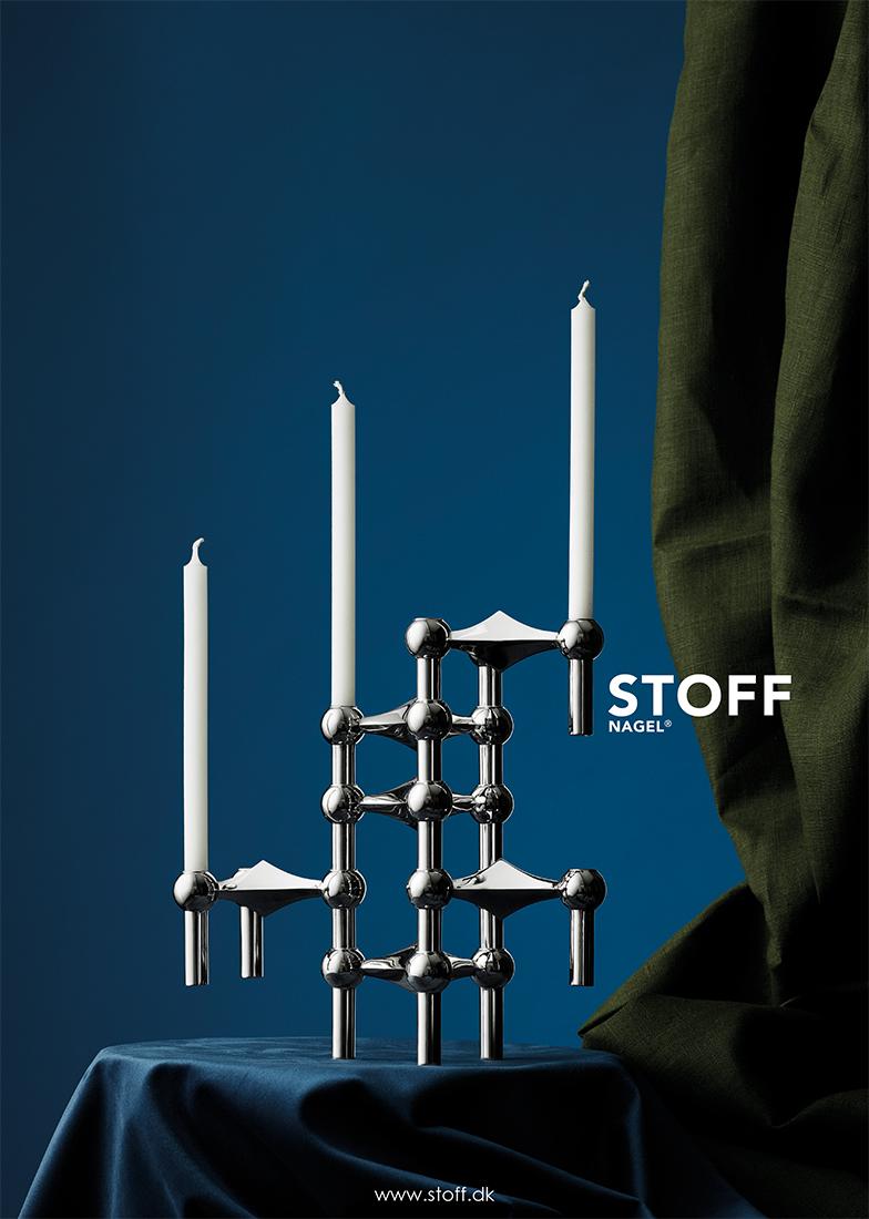 Stoff Nagel   Candleholder