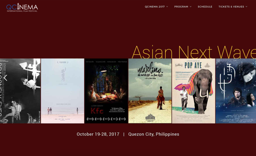 10.17.2017  Snow Woman will be screened at  Quezon City International Film Festival  in Philippines.