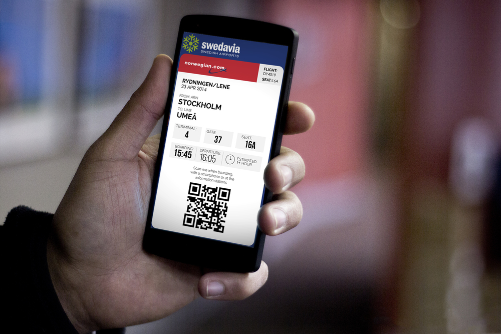 The boarding pass is also available on smartphone to maintain a consistency.