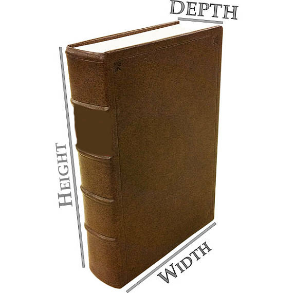 HOW TO MEASURE - This image will help you measure your book. For the measurement labeled