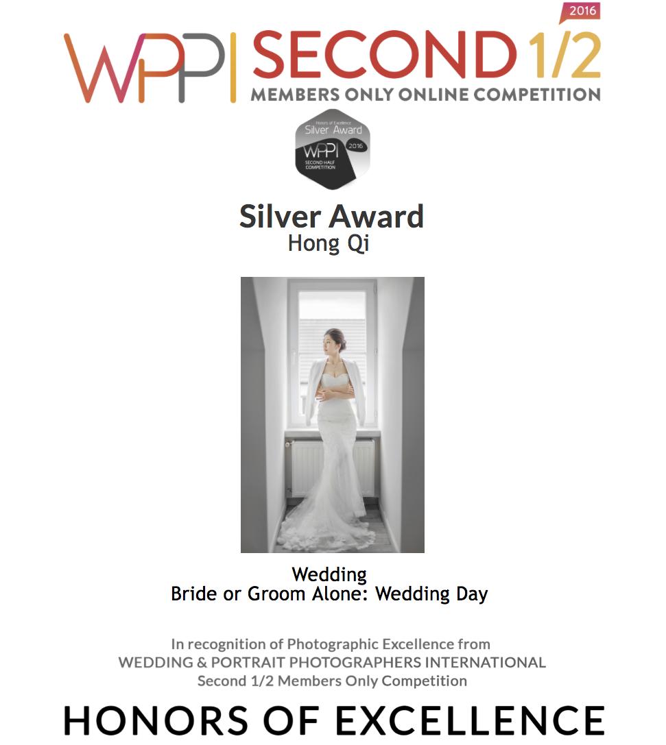 wppi新娘獨照類獲獎