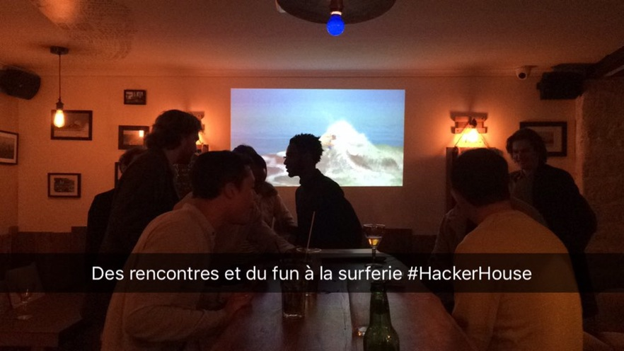 Jean-Hugues @ HackerHouse Paris #1 meet-up
