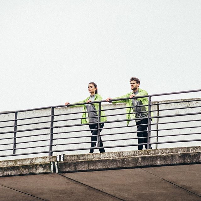 Prep yourself for cloudy days!  The new collection's windbreaker jacket leaves you with no more excuses to skip a workout  #aimhigh #stayfocused #outdoortraining
