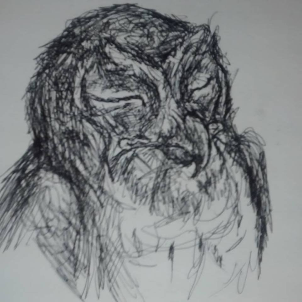 An owl drawing by John Ryan