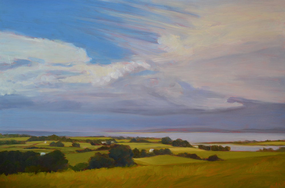 Baker-White's show features landscapes inspired by travels in Ireland and time spent at home in the northern Berkshires.  Image:  Killala Bay  by Tracy Baker-White