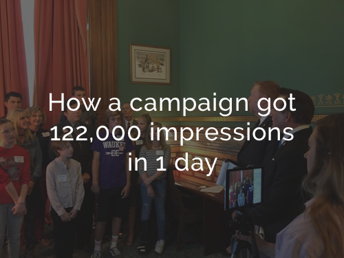 Service: Social Media Campaign Strategy & Execution  Client: Iowa Secretary of State