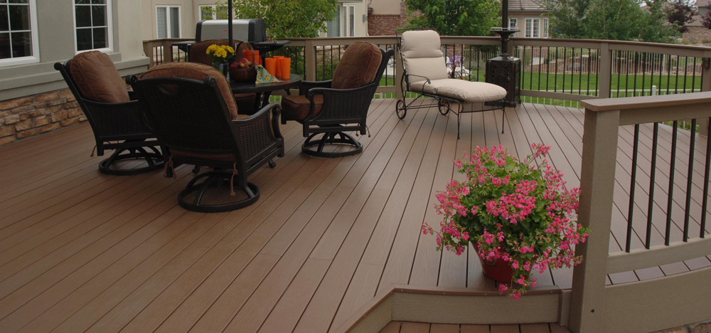 Bloombety back porch ideas with dominating white back for Best composite decking brand 2016