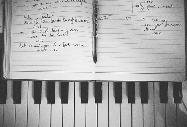 Sometimes you have to hit #pause on what you're doing, so you can start writing even better things. #songwriting #music #musician #piano #songbook #special #pen #new #original #work #dream #lyrics  #creative #nexus #vsco #vscocam #writing #youtube #youtubemusic #blackandwhite #novation