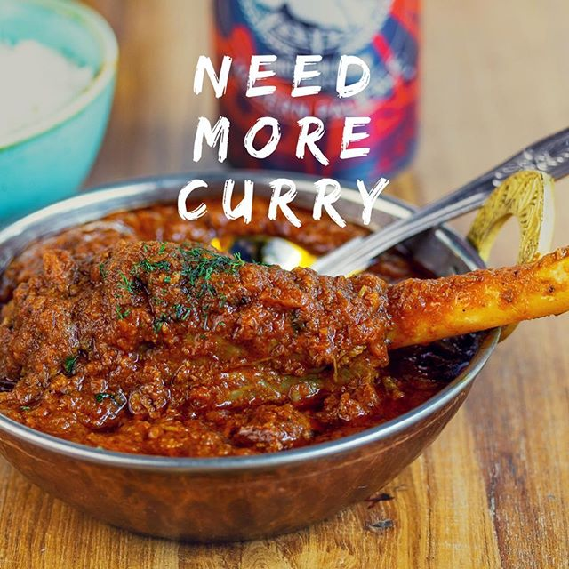 It's getting colder! :( ⠀ But that means it's the perfect time for a deliciously warming Punjabi lamb shank & a craft beer! Or maybe a lovely glass of spicy Malbec instead? ⠀ www.thecatspjs.co.uk ⠀ #craftbeer #malbec #punjabilambshank #yes #lovecurry #curry #indian #spicy