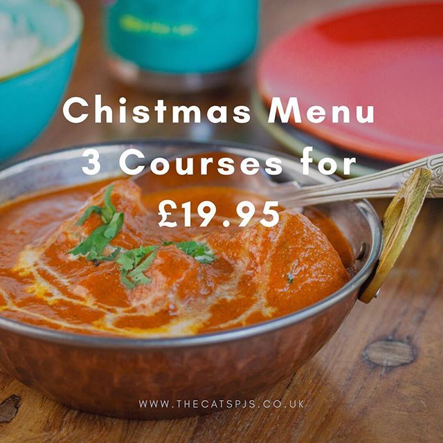 This has been really popular - book soon to avoid missing out! ⠀ See our website for the Christmas Menu www.thecatspjs.co.uk ⠀ #christmas #christmasmenu #party #teamxmasparty #indian #craftbeer #foodie