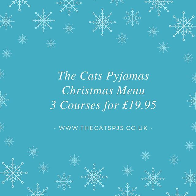 We are booking up fast! ⠀⠀ See our website to view the menu. ⠀ www.thecatspjs.co.uk ⠀ #indian #xmas #christmasmenu #teamparty #streetfood #craftbeer #christmasfood