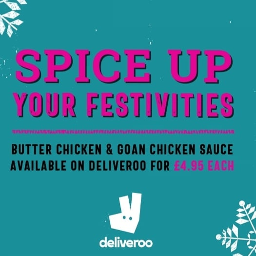 Right you lot!! You'll be wanting something spicy soon!  How much turkey you gonna have left come the 27th?  We're back open and selling our Butter Chicken & Goan Chicken Sauce on deliveroo for just £4.95.  AND 25% off alcohol!  www.deliveroo.co.uk  #deliveroo #turkeycurry #leeds #harrogate #yorkshire #headingley #sheffield