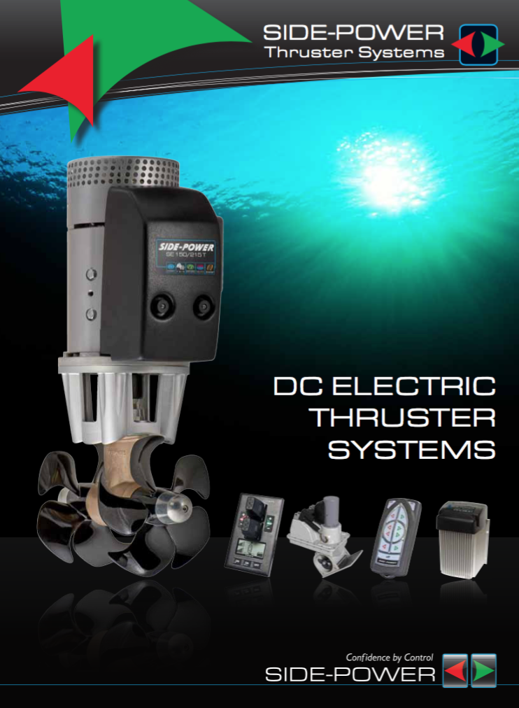 Side-Power DC electric thruster systems