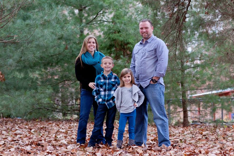 Pastor Jonathan Foster and his wife Marcie and their two children Jon Luke and Kaylyn