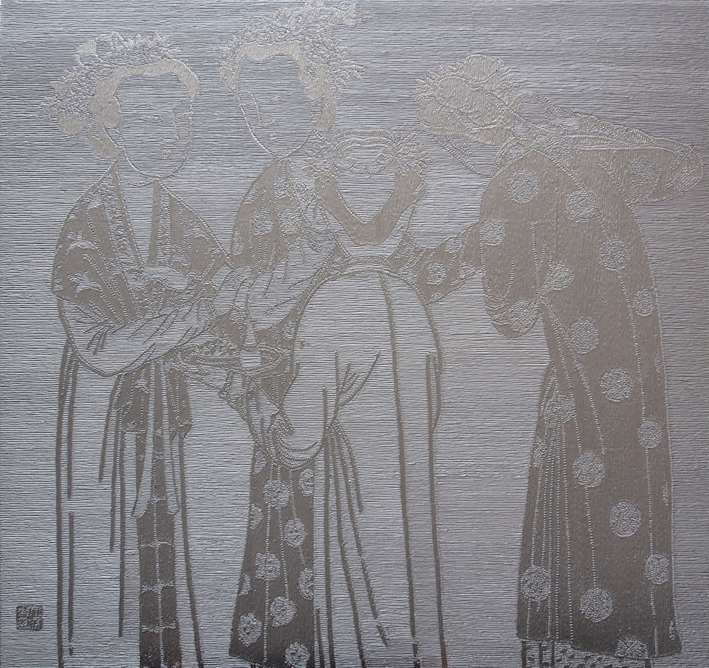 """Chinese women""  200x200cm. Comprehensive material 2015 Liu Da Hai.jpg"