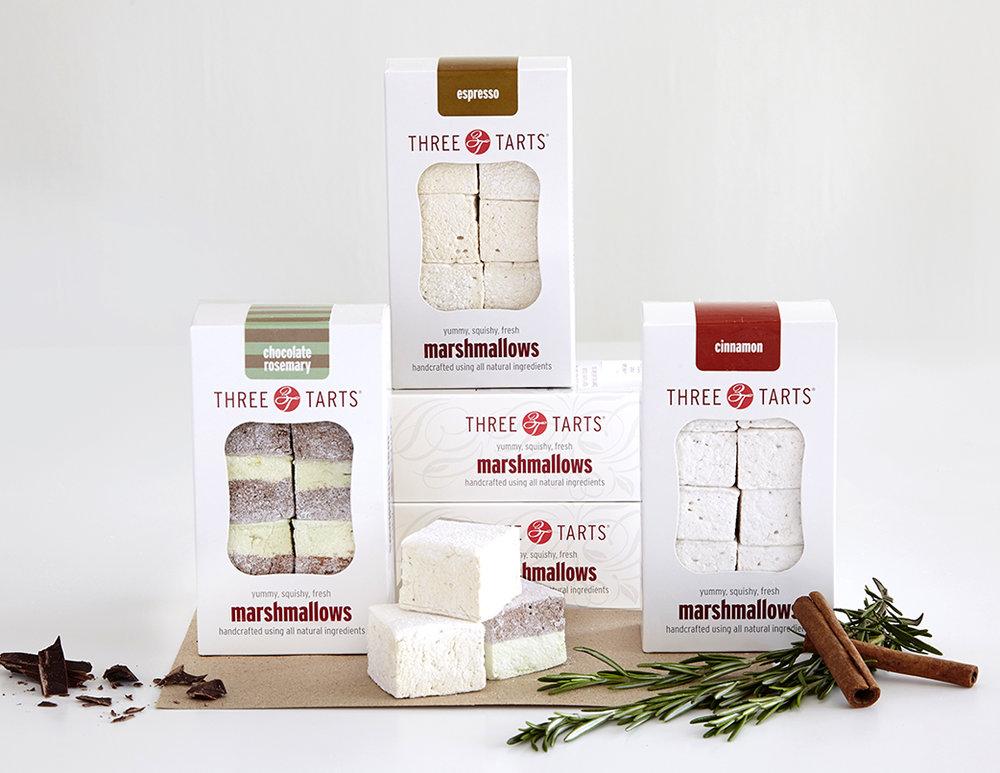 THREE TARTS MARSHMALLOW BOX