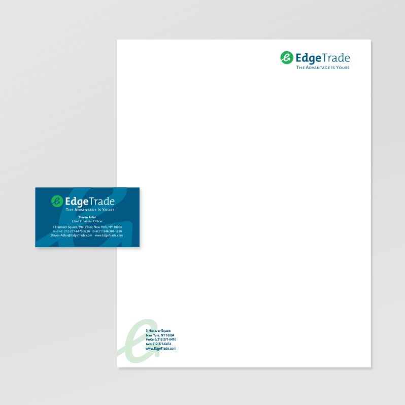 EDGETRADE LETTERHEAD, BUSINESS CARD