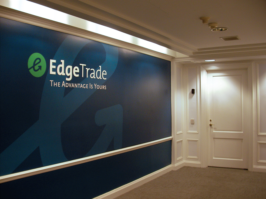 EDGETRADE ELEVATOR BANK SIGNAGE