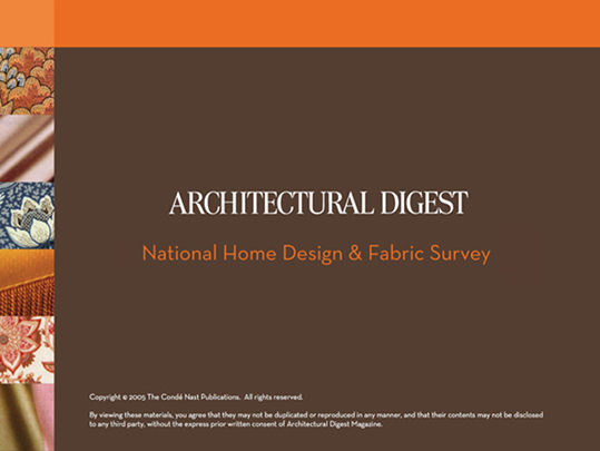 ARCHITECTURAL DIGEST SLIDESHOW