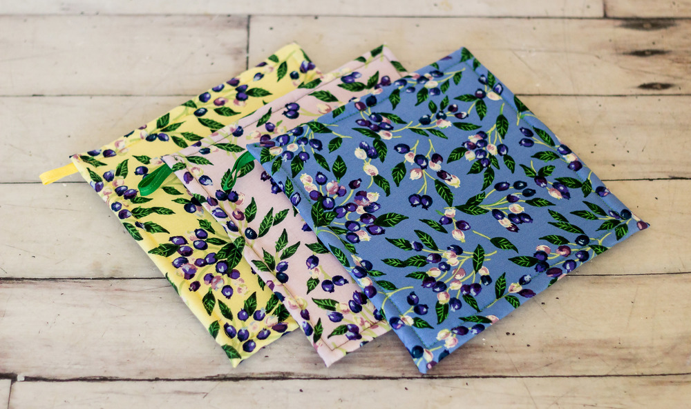 Blueberry Theme Potholders