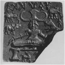 Clay tablet found during excavations at Mohenjo-daro