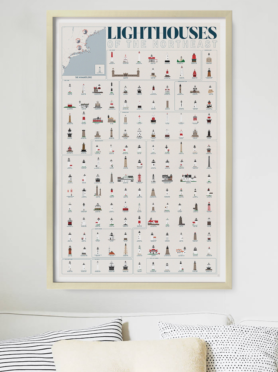 Lighthouses Print by Pop Chart Labs