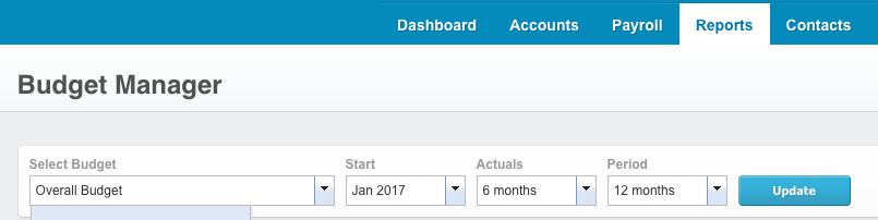 xero budget manager