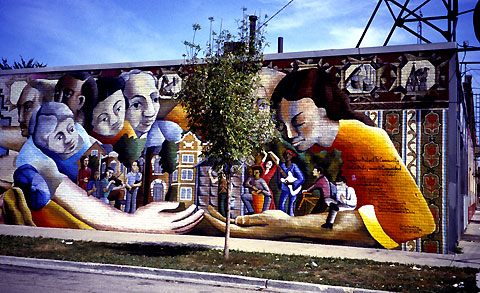 After John Pitman Weber restored his 1976 mural in 2005.